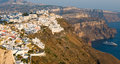 Santorini greece cityscape of fira town in island Royalty Free Stock Photos