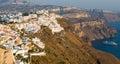 Santorini greece cityscape of fira town in island Royalty Free Stock Photos