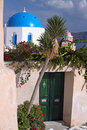 Santorini greece entrance to a traditional house in oia Royalty Free Stock Photo