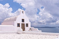 Santorini Greece Oia Church Ocean Sky