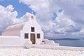 Santorini Greece Oia Church Ocean Sky Royalty Free Stock Photo