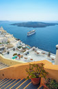 Santorini greece oia landscape shot Royalty Free Stock Photos