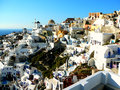 Santorini greece white buildings on the island of Royalty Free Stock Images