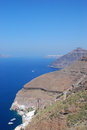 Santorini island caldera in greece Stock Photo