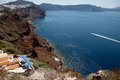 Santorini Island, caldera view, from the village of Oia Royalty Free Stock Photo