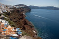 Santorini Island, caldera view from the village of Oia Royalty Free Stock Photo