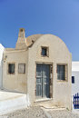 Santorini island classical greek architecture greece Stock Image