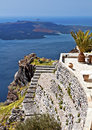 Santorini island at the Cyclades, Greece Stock Images