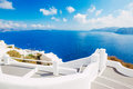 Santorini island greece beautiful view of a Royalty Free Stock Image