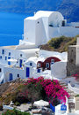 Santorini island greece beautiful view of Stock Image