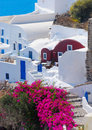 Santorini island greece beautiful view of Stock Photography
