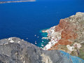 Santorini island greece sea and mountain scene Stock Image