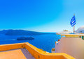 In Santorini island in Greece Royalty Free Stock Photo