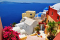 Santorini island greece view of Stock Photo