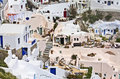 Santorini island in greece view of oia traditional village Stock Image