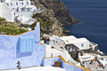 Santorini island in greece view of an old traditional village Royalty Free Stock Image