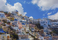 Santorini island in greece is a volcanic the cyclades group of the greek islands Royalty Free Stock Image