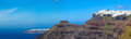 Santorini island panorama panoramic view of the greece Royalty Free Stock Photos