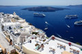 Santorini landscape with Caldera view Royalty Free Stock Images