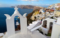 Santorini oia the beautiful view from greece Stock Photography