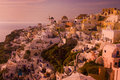 Santorini overview of the village of oia greece Royalty Free Stock Image