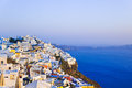 Santorini sunset firostefani greece vacation background Royalty Free Stock Image
