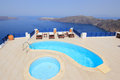 Santorini view - Greece (Firostefani) Stock Photography