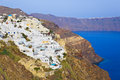 Santorini view (Oia), Greece Stock Image