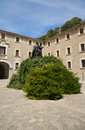 Santuari de lluc monastery in mallorca spain Royalty Free Stock Image