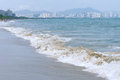 Sanya bay the landscape of in hainan china Stock Photo