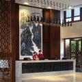 Sanya china sea court hotel four seasons the environment,the lobby,sanya hotel,sanya tourism,a Stock Image