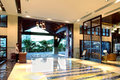 Sanya china sea court hotel four seasons the environment,the lobby,sanya hotel,sanya tourism,a holiday,accommodation Stock Image