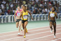 Sanya Richards-Ross, william-Mills and Sanders Royalty Free Stock Photo