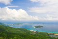 Sanya Yalong Bay, view from mountain Royalty Free Stock Photo