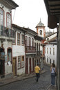 Sao Francisco street Ouro Preto Stock Photography