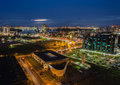Sao luis do maranhao at night the lights of the city of in the northeast of brazil Stock Images