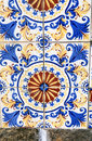 Sao luis of maranhao original xviii century ceramic on the wall the historic center the city in brazil Stock Image