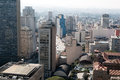 Sao paulo aerial view of city Royalty Free Stock Images