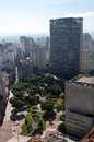 Sao paulo anhangabau valley aerial view city ​​ Stock Photography