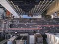 Sao Paulo, Brazil, August, 2017. Aerial view on Paulista Avenue, in Sao Paulo city. Royalty Free Stock Photo