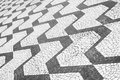 Sao paulo brazil classic sidewalk pattern black and white portuguese pavement Royalty Free Stock Photos