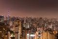 Sao Paulo City at Night Royalty Free Stock Photo