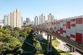 Sao paulo residential area of the bras view buildings in de brazil Royalty Free Stock Photography