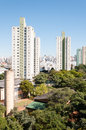 Sao paulo residential area of the bras view buildings in de brazil Royalty Free Stock Images