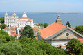Sao vicente de fora lisbon portugal monastery of and santa engracia photo taken from castelo jorge Stock Photo