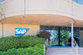 SAP Coporate Building and Logo Royalty Free Stock Photo
