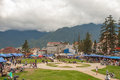 Sapa lao cai province vietnam june the city center of town provice Royalty Free Stock Images