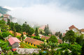 Sapa in the mist lao cai vietnam landscapes Stock Photography