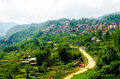 Sapa town at lao cai vietnam Royalty Free Stock Photo