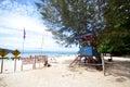 Sapi Island lifeguard post in Malaysia Royalty Free Stock Photo